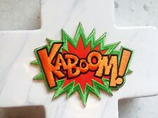 Kaboom Comic Quote Play Playground Embroidered Iron On Patches Patch