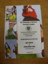 14/04/2010 Rhondda League U13 Cup Final: AFC Porth v Treherbert BGC [At Tylorsto