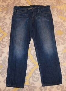 Lucky Brand The Sweet Crop blue stretch jeans Women's 10 / 30 Super comfy!