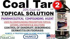 2 Humco 20% Coal Tar Topical Solution Compounding 16 oz Pharma Grade Exp 08/2020
