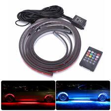 4× Under Car Cube RGB LED Strip Light Underglow Body Wireless Control Neon Light