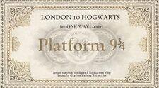 Harry Potter Hogwarts Platform 9 3/4 Ticket