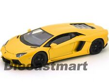 WELLY 24033 LAMBORGHINI AVENTADOR LP700-4 1:24 DIECAST MODEL CAR YELLOW