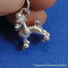 Silver French POODLE Dog CHARM PENDANT *NEW*