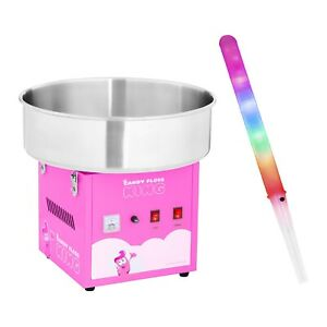 Cotton Candy Machine Set With 50 Led Cotton Candy Sticks Candy Floss Maker 1200W