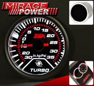 """2"""" 52mm Turbo Charger Boost Meter Gauge Smoke Tint Indicator For Tundra Tacoma"""