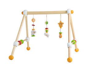 Spieltrapez Spielbogen für Babys Höhenverstellbar aus Holz Activity Center Baby