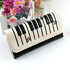 Fashion Lady Piano Keys Long Synthetic leather Purse Wallet Holder Handbag Hot