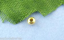 100 mini perles intercalaires en alliage doré 2,4 mm