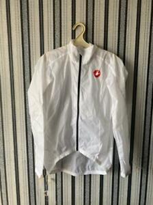Castelli Squadra ER Mens Cycling Rain Jacket - White Size M