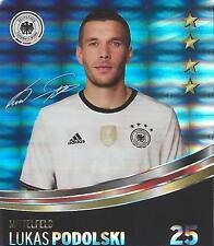Sammelbild Nr 25 Lukas Podolski REWE Glitzer Sticker Fußball EM 2016 DFB TOP