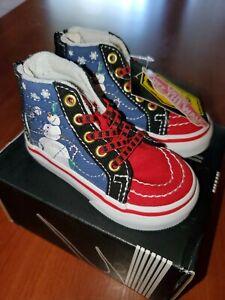 Vans x Disney Sk8-Hi Zip Nightmare Before Christmas Town Shoes NWB Toddler Sz 4