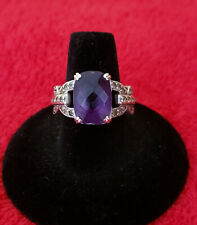 Amethyst Sterling Silver Ring Size 7 1/2