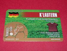 RARE FOOTBALL CARD FOOT2PASS 2010-2011 FC KAISERSLAUTERN FUSSBALL BUNDESLIGA