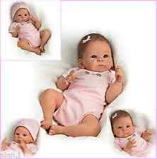 Ashton Drake Little Peanut  Newborn Baby Doll Poseable weighted pink Outfit