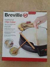 """Breville VTP130 Traditional Crepe Maker, 12"""", Black – NEW OTHER - For Sale"""