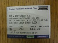 30/03/2002 Ticket: Preston North End v Portsmouth  . Thanks for viewing this ite