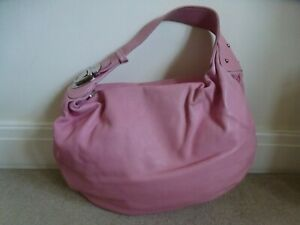 MARC JACOBS Pink Pebbled Leather Hobo Shoulder Bag With Silver Buckle & Dustbag