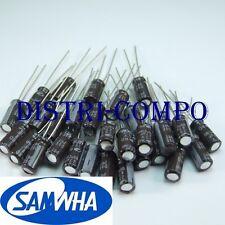 Condensateur 25V 47UF électrolytique radial 5x11mm Samwha (lot de 30)