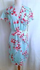 NWT Alex Marie Elise Mint Green Cherry Blossom Satin Work Social Tea Dress 10