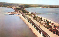 Aerial View Burlington Skyway Bridge Ontario Postcard Canada