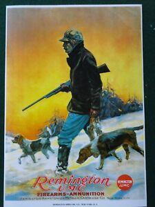 Remington Advertising Poster Firearms & Ammunition UMC-Co.