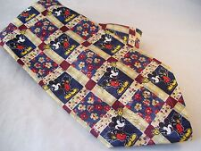 Disney Mickey Unlimited Mickey Mouse Wave Floral Novelty Tie Men's Poly Necktie