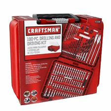 Craftsman 100 piece Accessory Kit Mechanics Tool Set Garage Drilling Bits Box