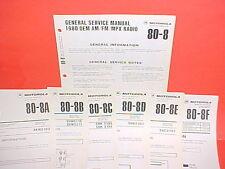 1980 VOLKSWAGEN 1981 HARLEY DAVIDSON MOTOROLA AM-FM/MPLX RADIO SERVICE MANUAL
