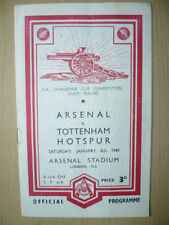FA Cup Home Team Written - on Football Programmes