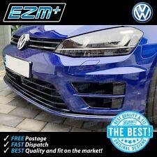 EZM VW Golf R 7 MK7 Splitter Lip Overlay Stickers Decals 'De-Chrome' GLOSS BLACK