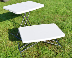 Adjustable Height Folding Table In Camping Tables Chairs For Sale Ebay