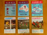 West Ham United v Ipswich Town collection of football match programmes x 6