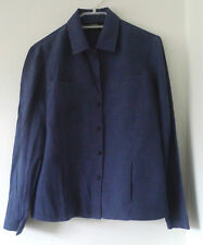 Dana Buchman blue shirt - Size US 8 Petite (UK 12 Petite)