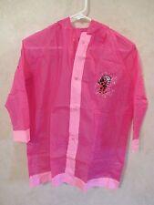 NWOT Girls Pink Lady Bug Raincoat Windbreaker with Hood~Pockets~Size Small
