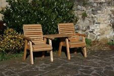 Garden Furniture / Patio Set High Back Roll Top Love Seat Bench Solid Wood