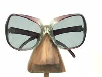 Vintage Purple Transparent Square Oversized Butterfly Sunglasses Frames France