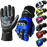 Leather Motorcycle Gloves Waterproof Motorbike Biker Racing Thermal Gloves