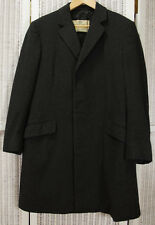 AQUASCUTUM Vintage Men's Cashmere Coat 40R Charcoal Grey Overcoat Outerwear