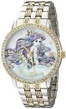 Disney Princess Ariel Womens Watch Gold Silver Tone Crystals The Little Mermaid