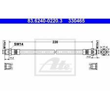 ATE Original 83.6240-0220.3 Bremsschlauch, Bremsleitung - BMW Z3