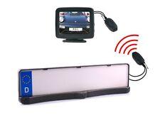 """Rückfahrkamera Kennzeichenhalter mit Sensoren Einparkhilfe Monitor 3,5"""" & Funk"""