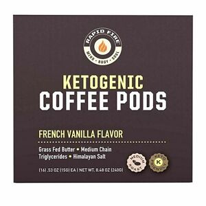 Rapid Fire French Vanilla Ketogenic High Performance Keto Coffee Pods, Support..