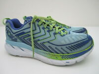 Womens 7.5 Hoka One One Clifton 4 blue green running shoes