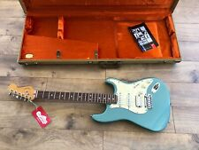 1996 Fender USA Blue American HSS Fat Strat & Stratocaster Tele Case.