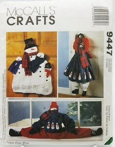 Christmas Snowman Wall Door Hanging Draft Blocker Pattern 9447 McCalls New