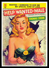 Help Wanted Male FRIDGE MAGNET 6x8 Pulp Fiction Art Magnetic CANVAS Print