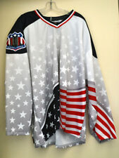 2001 AHL Commemorative 9/11 Aeros Player Jersey, No Logo, Men's XXL, Pre-Owned