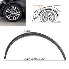 "4pc 27.5"" Car Wheel Eyebrow Carbon Fiber Arch Flares Protector Trim Lips Fender"