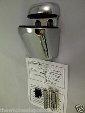 CHROME ADJUSTABLE SUPPORT FIXING BRACKETS FOR ACRYLIC, WOOD OR GLASS SHELVES x 6